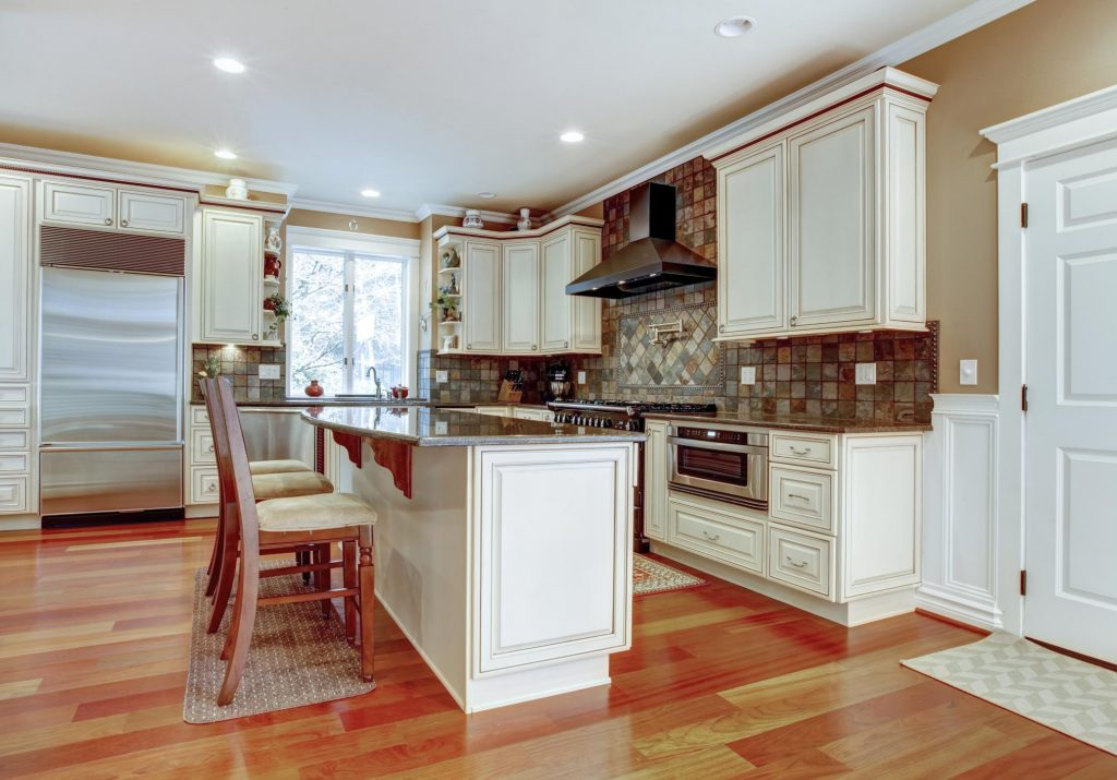 a newly remodeled kitchen room