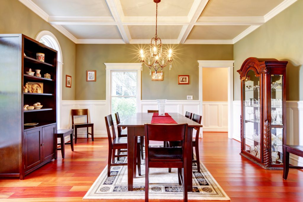 dining area with wood furniture